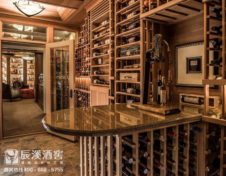 别墅酒窖设计与工程案例-储酒区传统风格