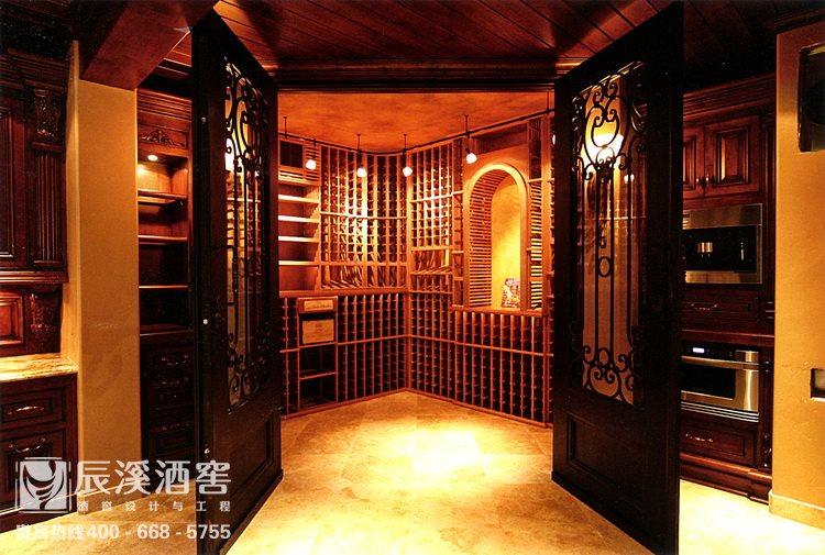 别墅酒窖设计与工程案例-储酒区原生态风格