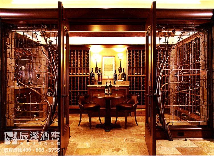 别墅酒窖设计与工程案例-窖藏区传统风格