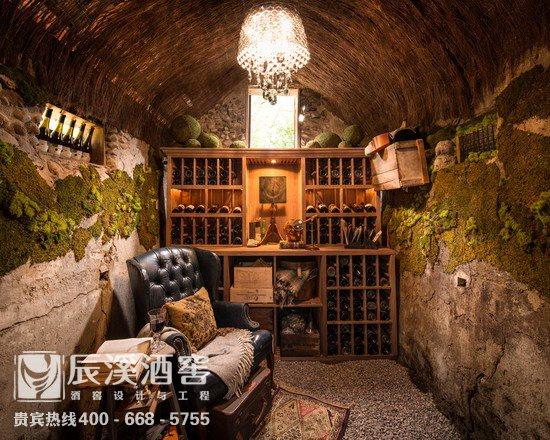 别墅酒窖设计与工程案例-窖藏区原生态风格