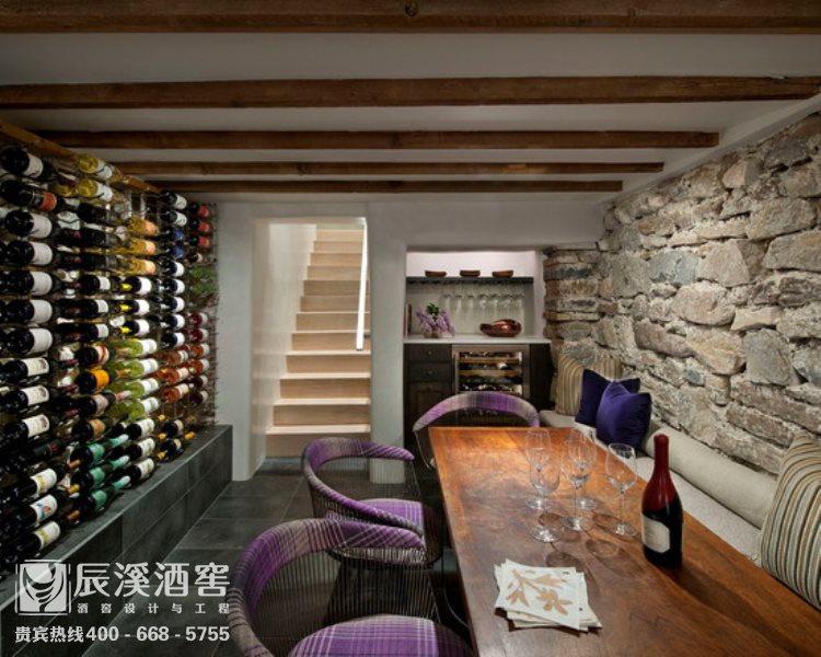 别墅酒窖设计与工程案例-品酒区现代风格