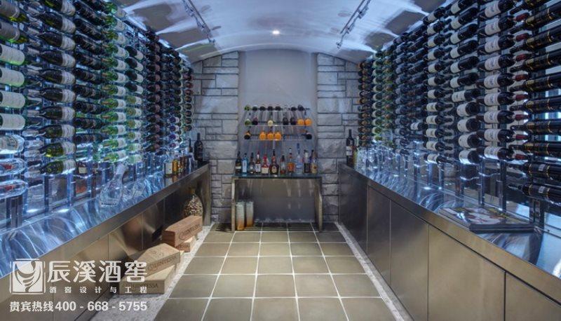 会所酒窖设计与工程案例-储酒区现代风格