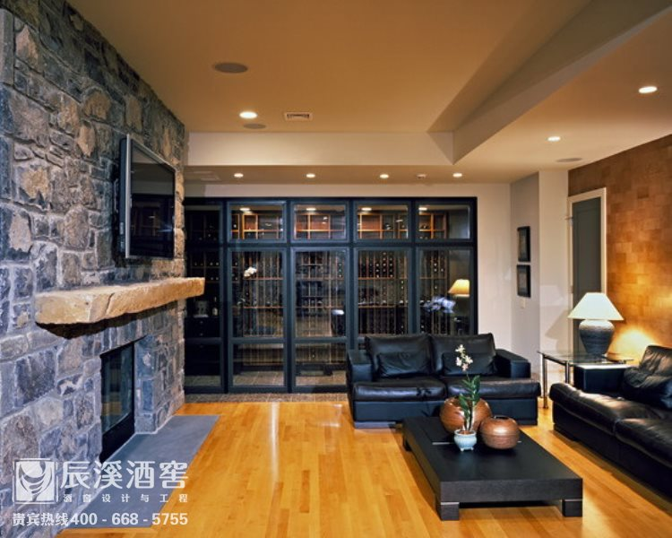 会所酒窖设计与工程案例-窖藏区传统风格
