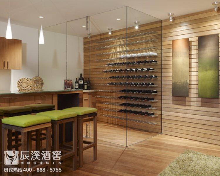 会所酒窖设计与工程案例-窖藏区现代风格