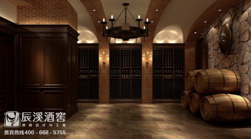 会所酒窖设计与工程案例-窖藏区原生态风格