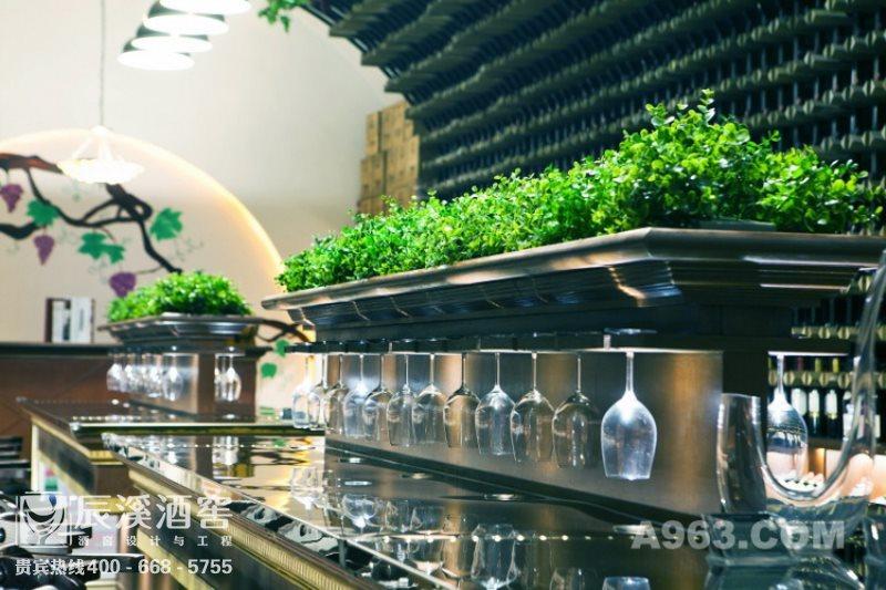 会所酒窖设计与工程案例-品酒区现代风格