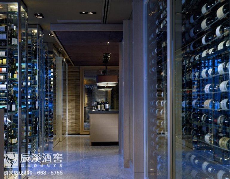 酒窖设计与工程案例-酒柜效果图