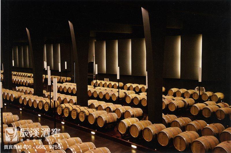 酒庄酒窖设计与工程案例-储酒区现代风格