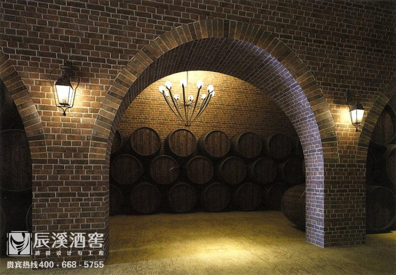 酒庄酒窖设计与工程案例-储酒区原生态风格