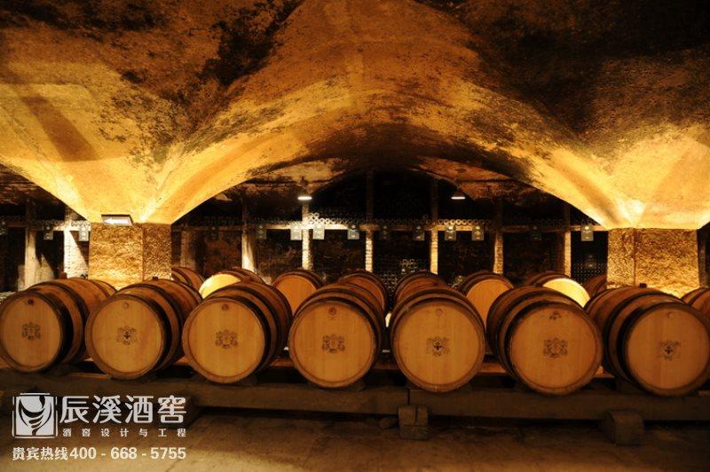 酒庄酒窖设计与工程案例-窖藏区原生态风格